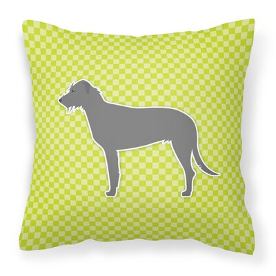 Irish Wolfhound Indoor/Outdoor Throw Pillow Size: 14 H x 14 W x 3 D, Color: Green