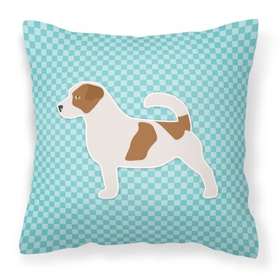Jack Russell Indoor/Outdoor Throw Pillow Color: Blue, Size: 18 H x 18 W x 3 D