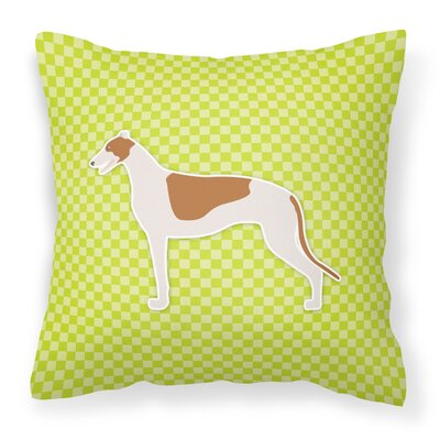 Greyhound Indoor/Outdoor Throw Pillow Size: 18 H x 18 W x 3 D, Color: Green