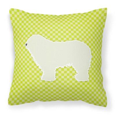 Komondor Indoor/Outdoor Throw Pillow Size: 14 H x 14 W x 3 D, Color: Green