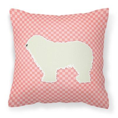 Komondor Indoor/Outdoor Throw Pillow Size: 18 H x 18 W x 3 D, Color: Pink