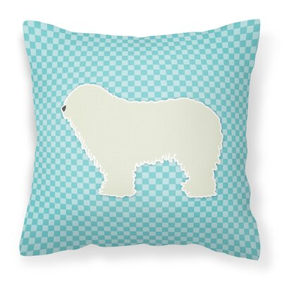 Komondor Indoor/Outdoor Throw Pillow Size: 14 H x 14 W x 3 D, Color: Blue