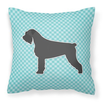 Giant Schnauzer Indoor/Outdoor Throw Pillow Size: 18 H x 18 W x 3 D, Color: Blue