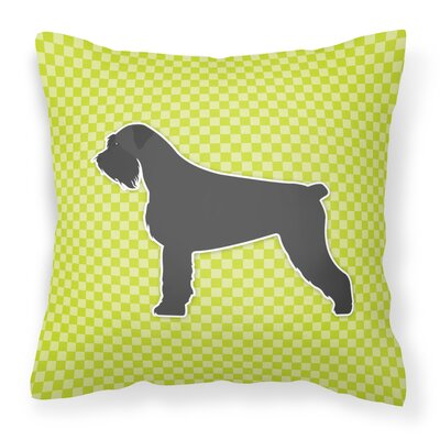 Giant Schnauzer Indoor/Outdoor Throw Pillow Size: 18 H x 18 W x 3 D, Color: Green