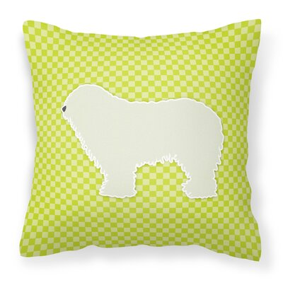Komondor Indoor/Outdoor Throw Pillow Size: 18 H x 18 W x 3 D, Color: Green