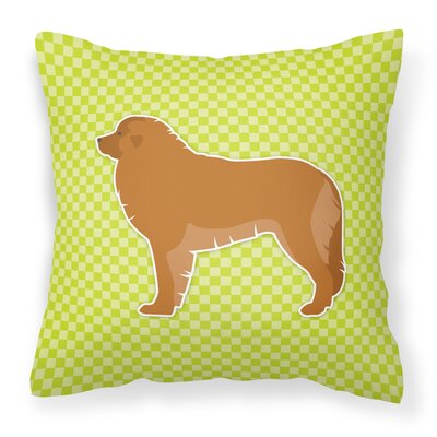 Leonberger Indoor/Outdoor Throw Pillow Size: 14 H x 14 W x 3 D, Color: Green