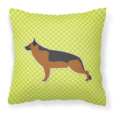 German Shepherd Indoor/Outdoor Throw Pillow Size: 14 H x 14 W x 3 D, Color: Green