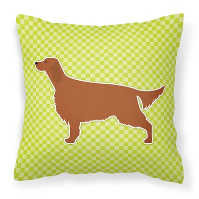 Irish Setter Indoor/Outdoor Throw Pillow Size: 14 H x 14 W x 3 D, Color: Green