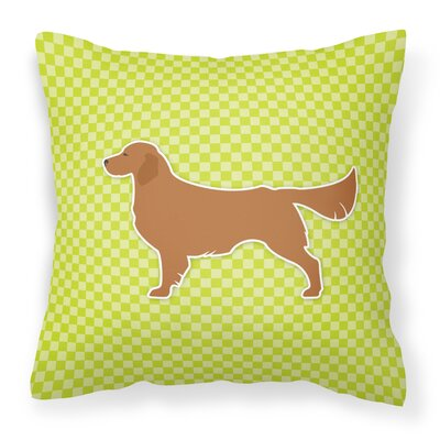 Golden Retriever Indoor/Outdoor Throw Pillow Size: 14 H x 14 W x 3 D, Color: Green