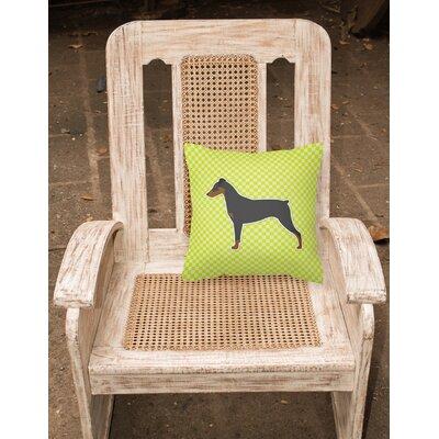 German Pinscher Indoor/Outdoor Throw Pillow Size: 14 H x 14 W x 3 D, Color: Green