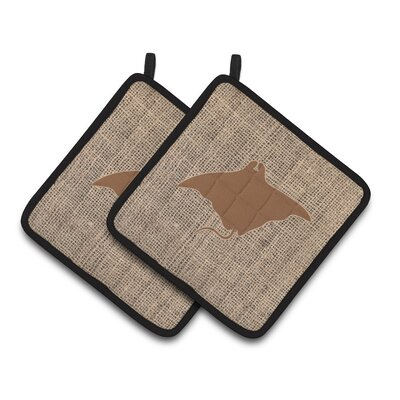 Manta Ray Potholder BB1014-BL-BN-PTHD
