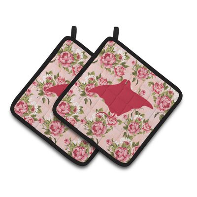 Manta Ray Potholder BB1014-RS-PK-PTHD