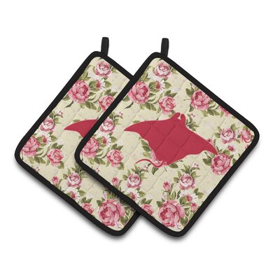 Manta Ray Potholder BB1014-RS-YW-PTHD