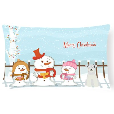 Merry Christmas Indoor/Outdoor Lumbar Pillow Color: White