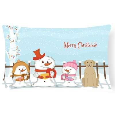 Merry Christmas Indoor/Outdoor Lumbar Pillow Color: Yellow