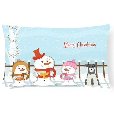 Merry Christmas Indoor/Outdoor Lumbar Pillow Color: Salt and Pepper