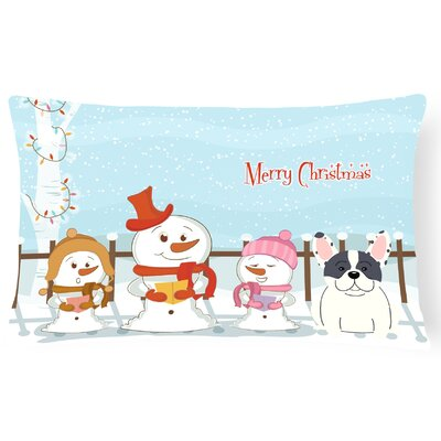 Merry Christmas Indoor/Outdoor Lumbar Pillow Color: Piebald