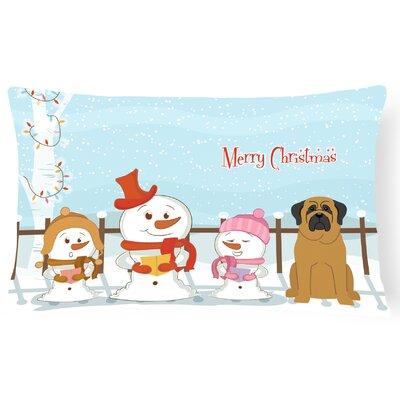 Merry Christmas Indoor/Outdoor Lumbar Pillow Color: Brown