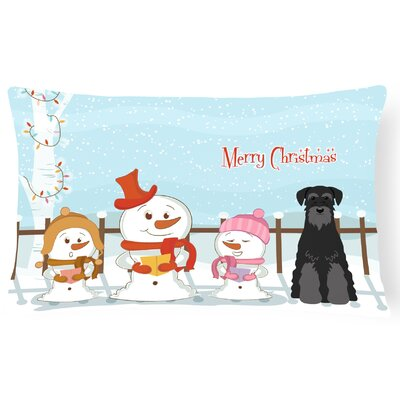 Merry Christmas Indoor/Outdoor Lumbar Pillow Color: Black