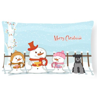 Merry Christmas Indoor/Outdoor Lumbar Pillow Color: Black/Silver
