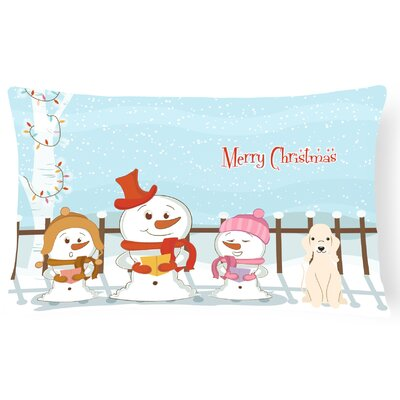 Merry Christmas Indoor/Outdoor Lumbar Pillow Color: Sandy