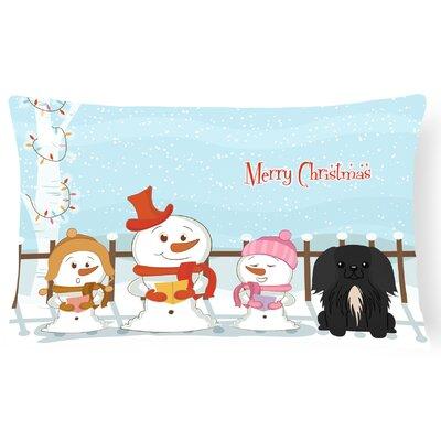 Merry Christmas Indoor/Outdoor Lumbar Pillow Color: Black