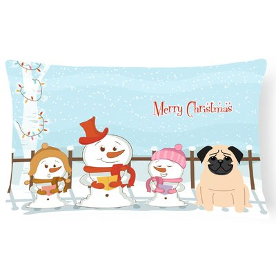 Merry Christmas Indoor/Outdoor Lumbar Pillow Color: Fawn