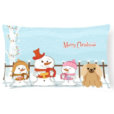 Merry Christmas Indoor/Outdoor Lumbar Pillow Color: Fawn/Sable