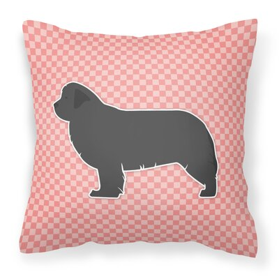 Newfoundland Indoor/Outdoor Throw Pillow Size: 14 H x 14 W x 3 D, Color: Pink