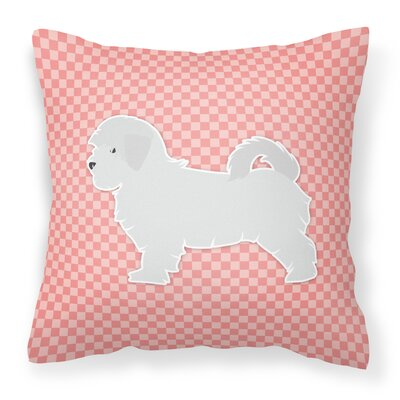 Maltese Indoor/Outdoor Throw Pillow Size: 18 H x 18 W x 3 D, Color: Pink