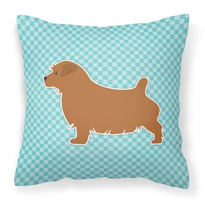 Norfolk Terrier Indoor/Outdoor Throw Pillow Size: 14 H x 14 W x 3 D, Color: Blue