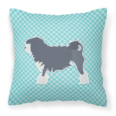 Gordon Indoor/Outdoor Throw Pillow Size: 18 H x 18 W x 3 D, Color: Blue