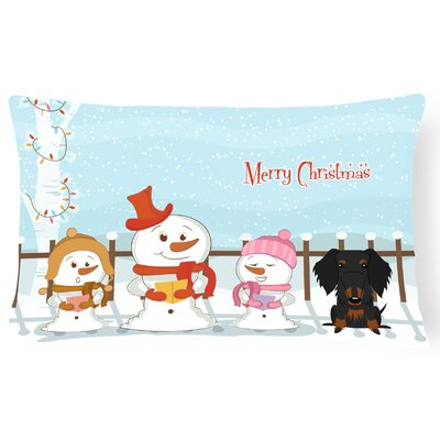 Merry Christmas Indoor/Outdoor Lumbar Pillow Color: Black/Tan