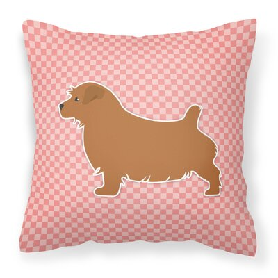 Norfolk Terrier Indoor/Outdoor Throw Pillow Size: 14 H x 14 W x 3 D, Color: Pink