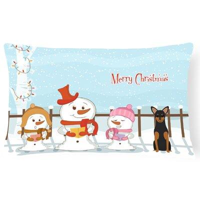 Merry Christmas Indoor/Outdoor Lumbar Pillow