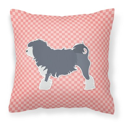 Gordon Indoor/Outdoor Throw Pillow Size: 14 H x 14 W x 3 D, Color: Pink