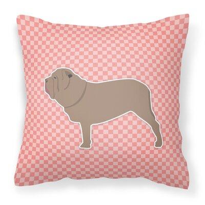 Neapolitan Mastiff Indoor/Outdoor Throw Pillow Size: 18 H x 18 W x 3 D, Color: Pink