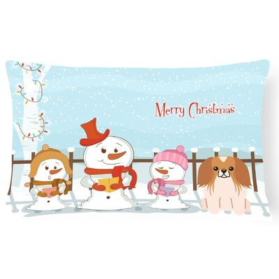 Merry Christmas Indoor/Outdoor Lumbar Pillow Color: Red/White