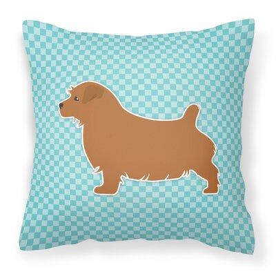 Norfolk Terrier Indoor/Outdoor Throw Pillow Size: 18 H x 18 W x 3 D, Color: Blue