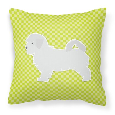 Maltese Indoor/Outdoor Throw Pillow Size: 14 H x 14 W x 3 D, Color: Green