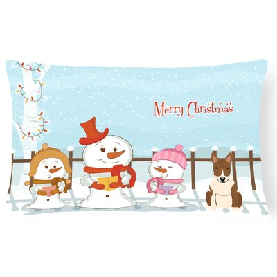 Merry Christmas Indoor/Outdoor Lumbar Pillow Color: Brown