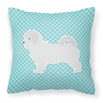 Maltese Indoor/Outdoor Throw Pillow Size: 14 H x 14 W x 3 D, Color: Blue