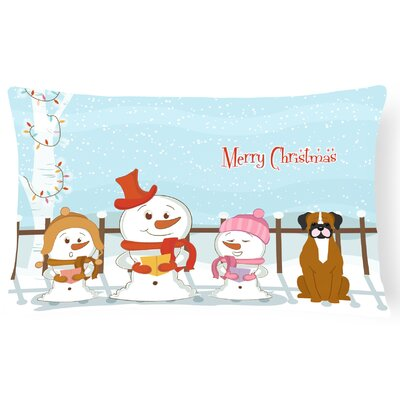 Merry Christmas Indoor/Outdoor Lumbar Pillow Color: Flashy/Fawn