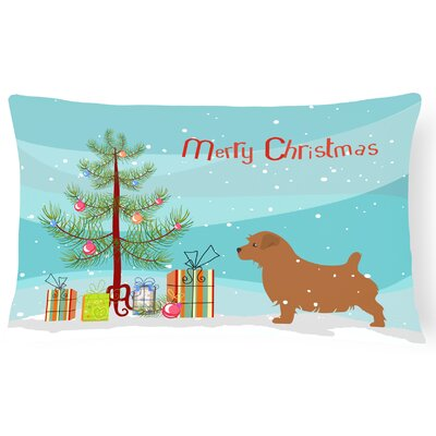 Norfolk Terrier Tree Indoor/Outdoor Lumbar Pillow