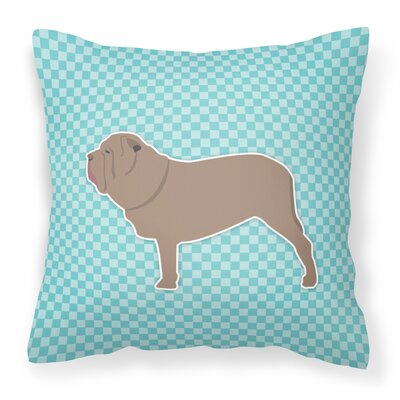 Neapolitan Mastiff Indoor/Outdoor Throw Pillow Size: 18 H x 18 W x 3 D, Color: Blue