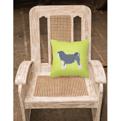 Gordon Indoor/Outdoor Throw Pillow Size: 14 H x 14 W x 3 D, Color: Green