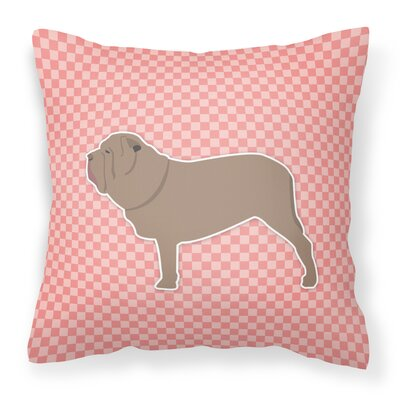 Neapolitan Mastiff Indoor/Outdoor Throw Pillow Size: 14 H x 14 W x 3 D, Color: Pink