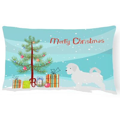Maltese Tree Indoor/Outdoor Lumbar Pillow