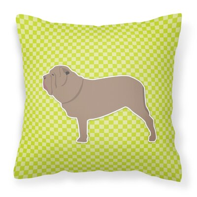 Neapolitan Mastiff Indoor/Outdoor Throw Pillow Size: 18 H x 18 W x 3 D, Color: Green