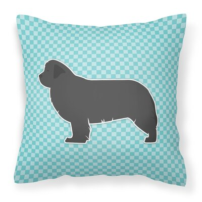 Newfoundland Indoor/Outdoor Throw Pillow Size: 14 H x 14 W x 3 D, Color: Blue